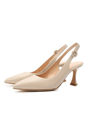Женские кожаные туфли GIANVITO ROSSI светло-бежевого цвета, арт. G95244.70RIC.NGLM0US | Фото 1