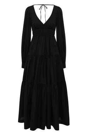 Женское хлопковое платье THREE GRACES черного цвета, арт. TGL DR8000 | Фото 1
