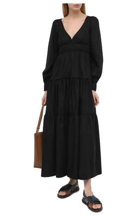 Женское хлопковое платье THREE GRACES черного цвета, арт. TGL DR8000 | Фото 2