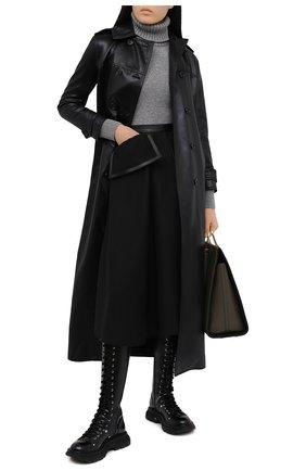 Женская кашемировая водолазка ALEXANDER MCQUEEN серого цвета, арт. 650358/Q1ATG | Фото 2