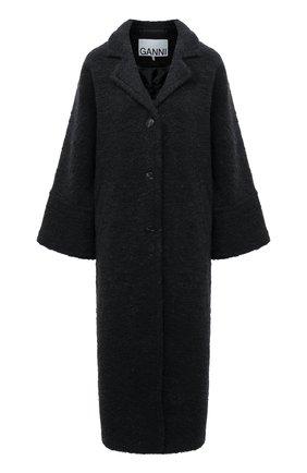 Женское пальто GANNI темно-серого цвета, арт. F5419 | Фото 1