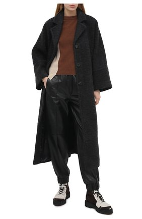 Женское пальто GANNI темно-серого цвета, арт. F5419 | Фото 2