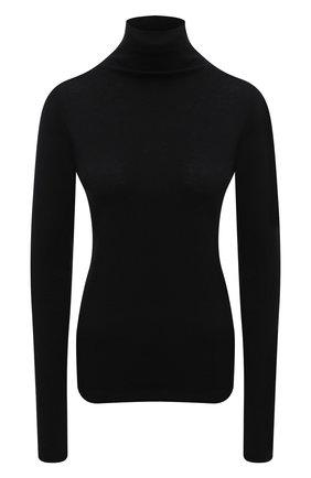 Женская хлопковая водолазка VINCE черного цвета, арт. VR87383357 | Фото 1