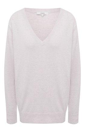 Женский кашемировый свитер VINCE белого цвета, арт. VR74978133 | Фото 1