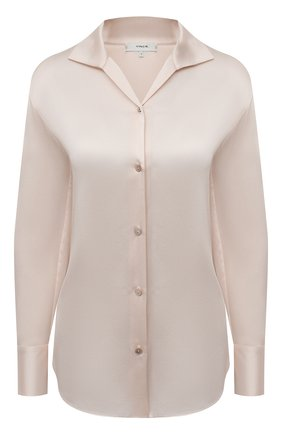 Женская шелковая блузка VINCE бежевого цвета, арт. V718012413 | Фото 1
