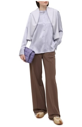 Женская шелковая блузка VINCE голубого цвета, арт. V718012244 | Фото 2