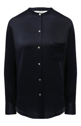 Женская шелковая блузка VINCE темно-синего цвета, арт. V718012244 | Фото 1