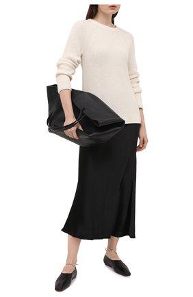 Женский свитер из хлопка и кашемира VINCE белого цвета, арт. V716578676 | Фото 2