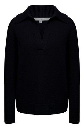Женский свитер из шерсти и кашемира VINCE темно-синего цвета, арт. V715978666 | Фото 1