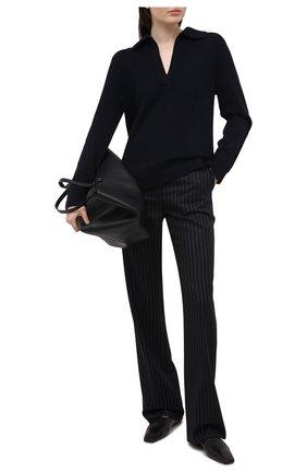 Женский свитер из шерсти и кашемира VINCE темно-синего цвета, арт. V715978666 | Фото 2