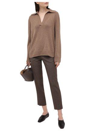 Женский свитер из шерсти и кашемира VINCE коричневого цвета, арт. V715978666 | Фото 2