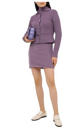 Женский хлопковый жакет BOTTEGA VENETA сиреневого цвета, арт. 651797/V0SI0 | Фото 2