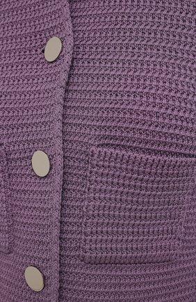 Женский хлопковый жакет BOTTEGA VENETA сиреневого цвета, арт. 651797/V0SI0 | Фото 5