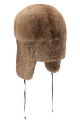Мужская норковая шапка-ушанка KUSSENKOVV светло-коричневого цвета, арт. 321900033247 | Фото 2