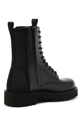 Мужские кожаные ботинки VALENTINO черного цвета, арт. VY2S0E07/TRW   Фото 4 (Мужское Кросс-КТ: Ботинки-обувь; Материал внутренний: Натуральная кожа; Подошва: Массивная)