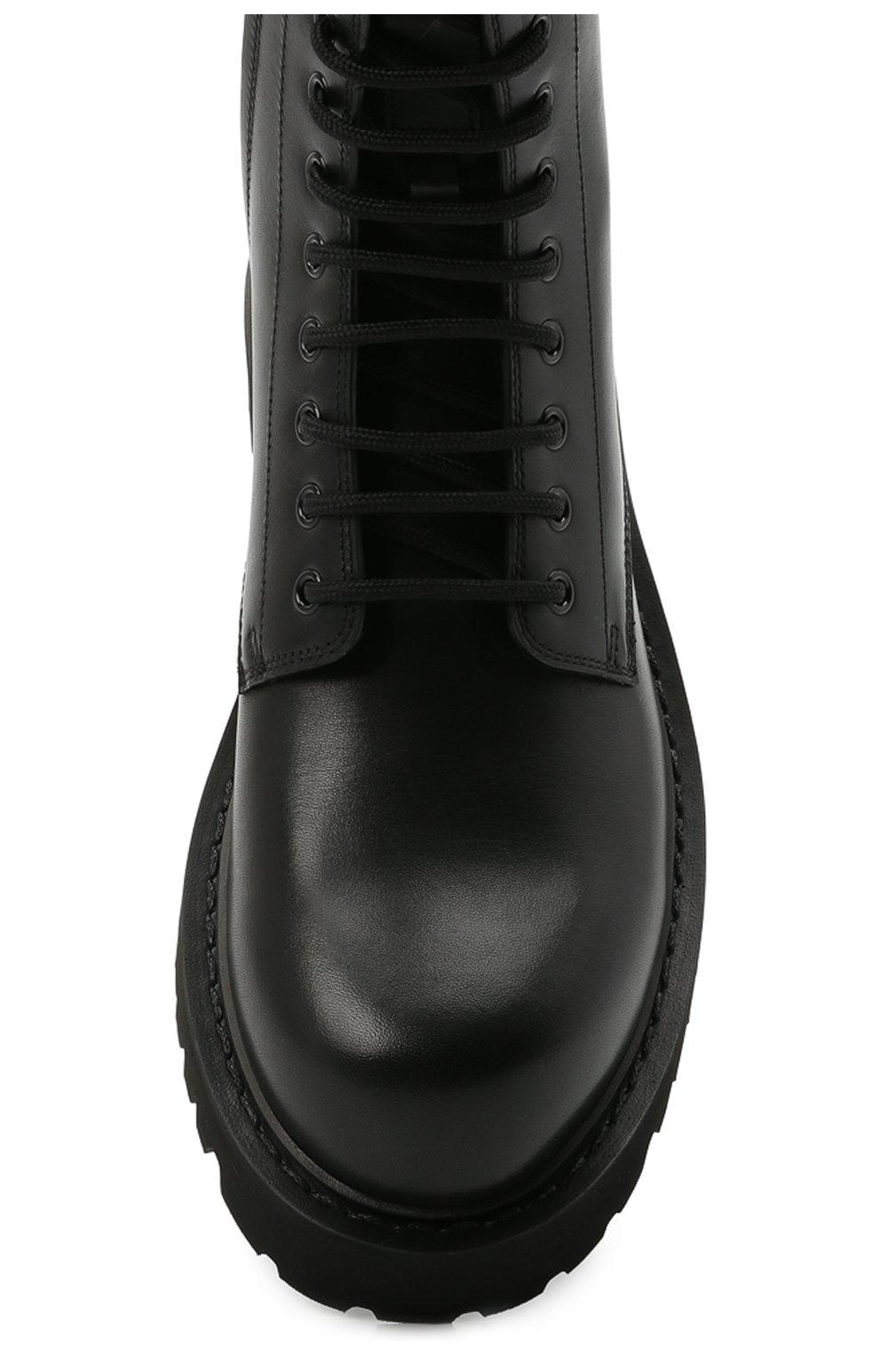 Мужские кожаные ботинки VALENTINO черного цвета, арт. VY2S0E07/TRW   Фото 5 (Мужское Кросс-КТ: Ботинки-обувь; Материал внутренний: Натуральная кожа; Подошва: Массивная)