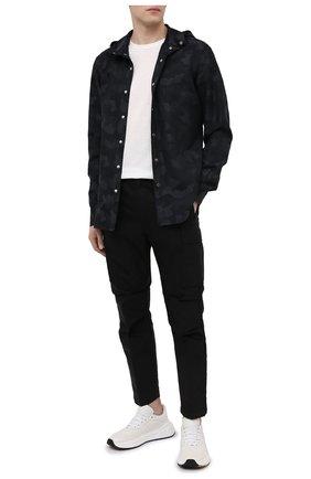 Мужская рубашка из хлопка и льна KITON черного цвета, арт. UMCMARH0763401 | Фото 2