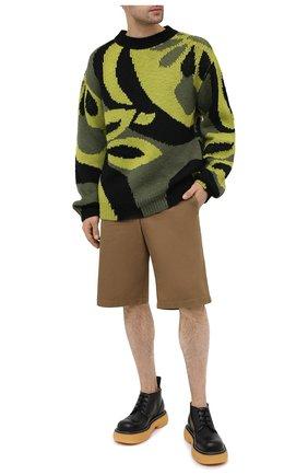 Мужские хлопковые шорты ISABEL MARANT хаки цвета, арт. SH0217-21P014H/L0RIAN | Фото 2