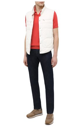 Мужское хлопковое поло BRUNELLO CUCINELLI красного цвета, арт. M29800145 | Фото 2