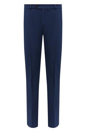 Мужские хлопковые брюки BRUNELLO CUCINELLI синего цвета, арт. M289LB1770 | Фото 1 (Случай: Повседневный; Длина (брюки, джинсы): Стандартные; Материал внешний: Хлопок; Стили: Кэжуэл)