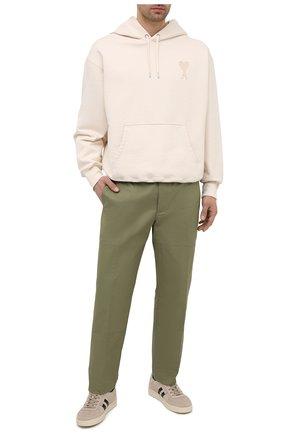 Мужские хлопковые брюки LANVIN хаки цвета, арт. RM-TR0060-4468-P21   Фото 2