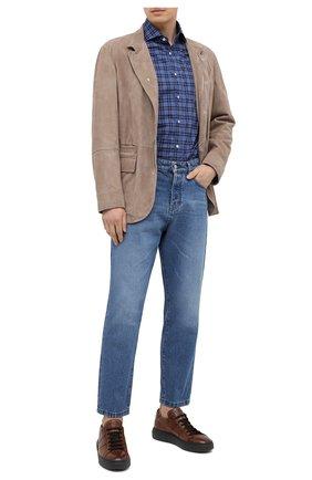 Мужские кожаные кеды ANTONIO MAURIZI коричневого цвета, арт. 1053/T0DI | Фото 2