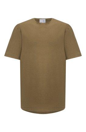 Мужская хлопковая футболка ZILLI SPORT хаки цвета, арт. MFU-13075-447782/0014/5XL-8XL | Фото 1