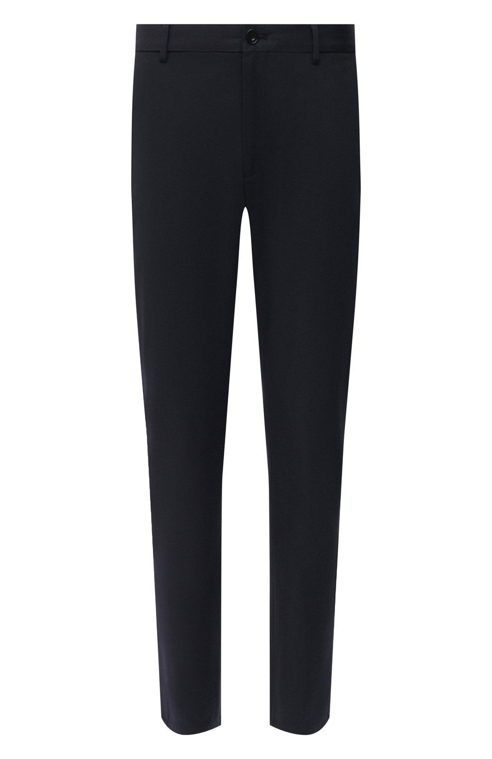 Мужские хлопковые брюки BURBERRY темно-синего цвета, арт. 8017627 | Фото 1 (Длина (брюки, джинсы): Стандартные; Случай: Повседневный; Материал внешний: Хлопок; Стили: Кэжуэл)