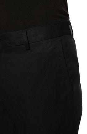 Мужские хлопковые брюки BURBERRY темно-синего цвета, арт. 8017627 | Фото 5 (Длина (брюки, джинсы): Стандартные; Случай: Повседневный; Материал внешний: Хлопок; Стили: Кэжуэл)
