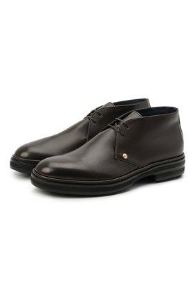 Мужские кожаные ботинки ZILLI коричневого цвета, арт. MDU-A095/005 | Фото 1