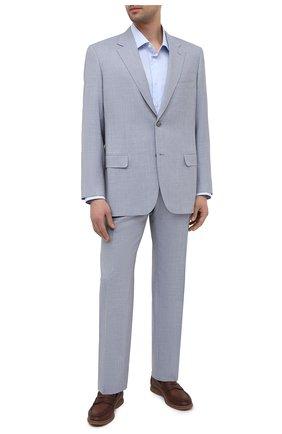 Мужской шерстяной костюм BRIONI светло-голубого цвета, арт. RAH012/P0A69/PARLAMENT0 | Фото 1