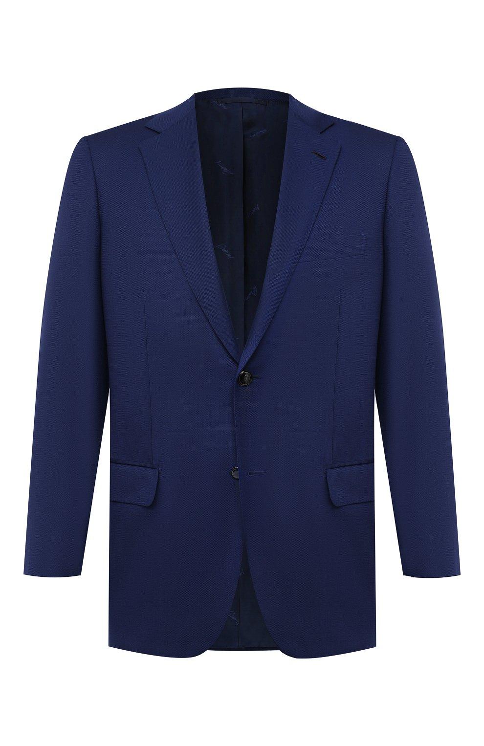 Мужской шерстяной пиджак BRIONI темно-синего цвета, арт. RGH01D/09A5U/PARLAMENT0 | Фото 1
