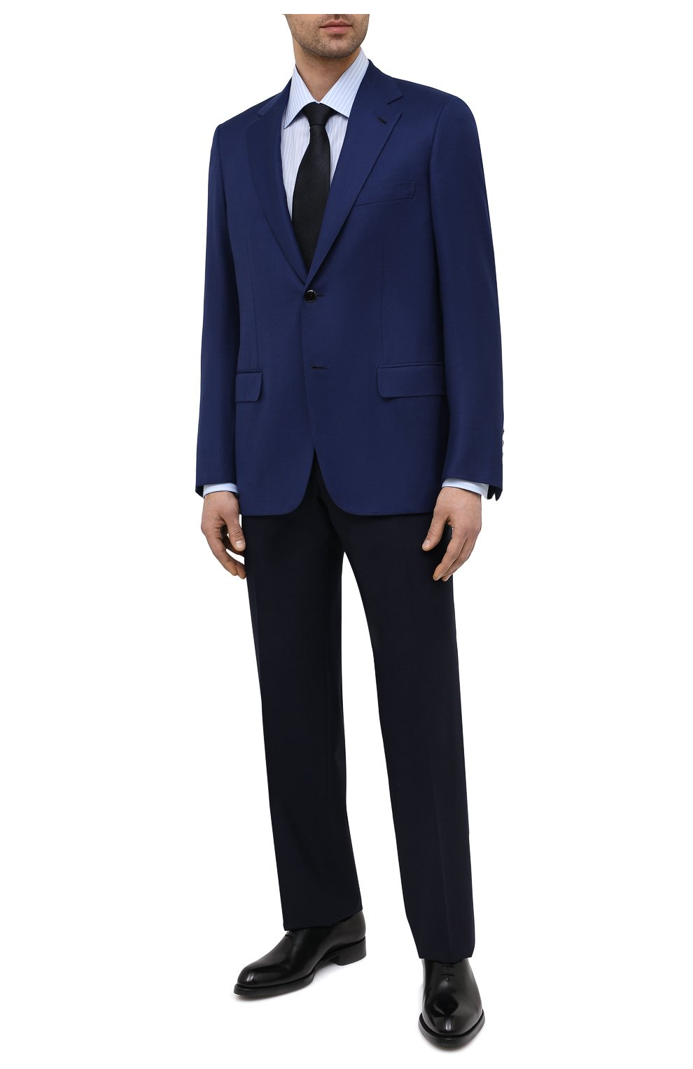 Мужской шерстяной пиджак BRIONI темно-синего цвета, арт. RGH01D/09A5U/PARLAMENT0 | Фото 2