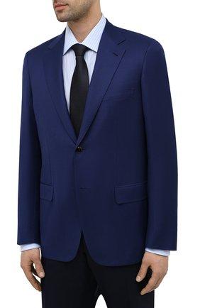 Мужской шерстяной пиджак BRIONI темно-синего цвета, арт. RGH01D/09A5U/PARLAMENT0 | Фото 3