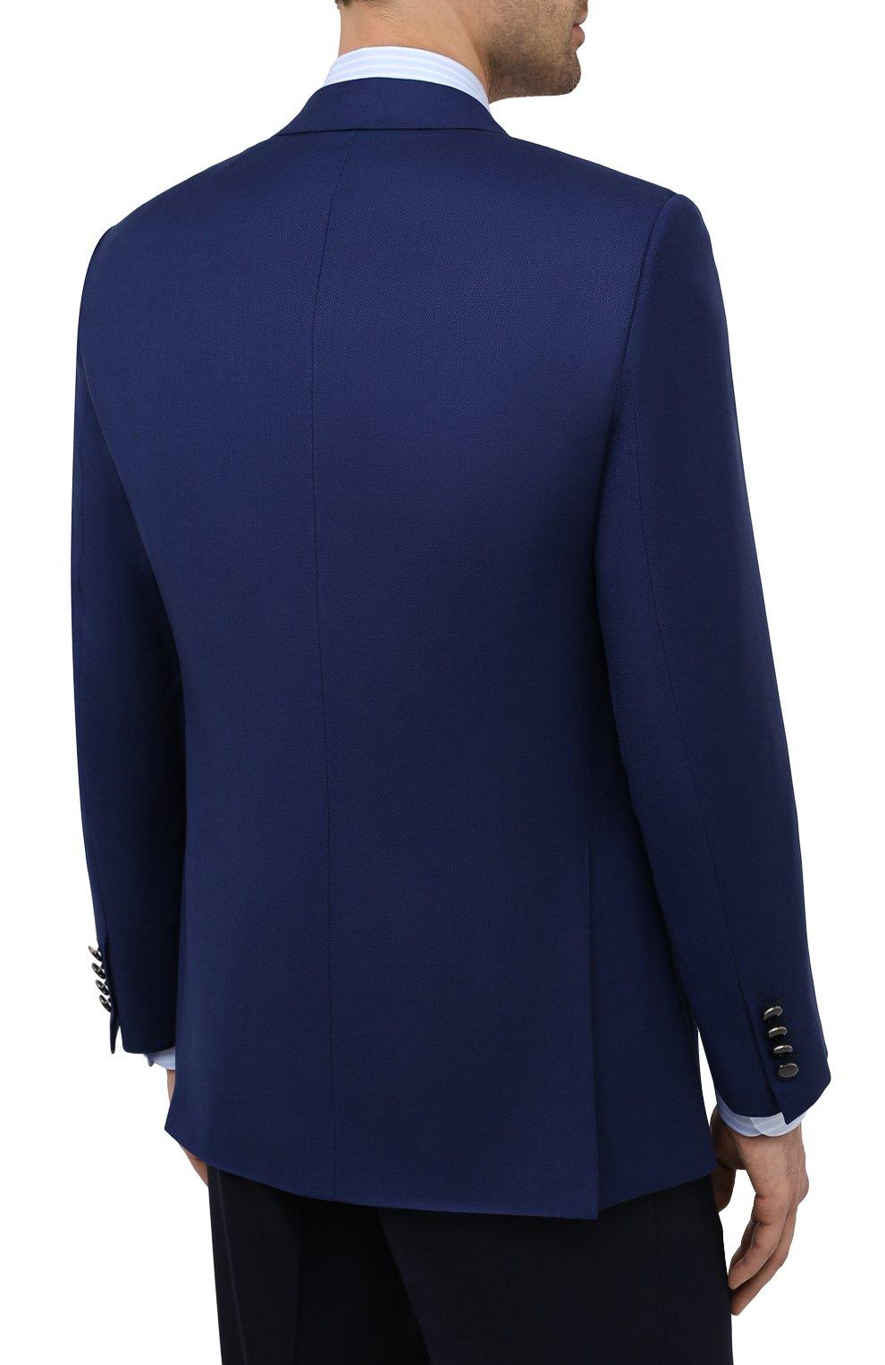 Мужской шерстяной пиджак BRIONI темно-синего цвета, арт. RGH01D/09A5U/PARLAMENT0 | Фото 4