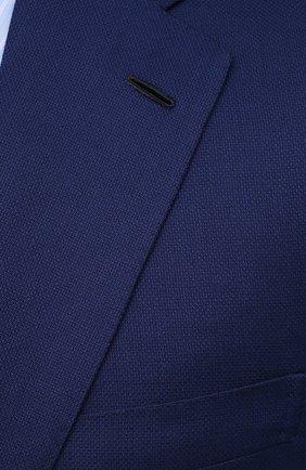 Мужской шерстяной пиджак BRIONI темно-синего цвета, арт. RGH01D/09A5U/PARLAMENT0 | Фото 5