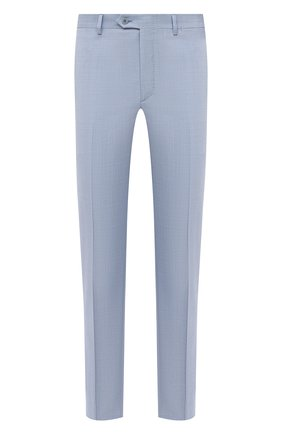 Мужские шерстяные брюки BRIONI голубого цвета, арт. RPL80L/P9AA4/MEGEVE   Фото 1
