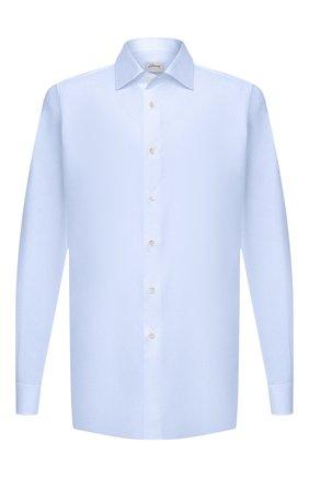 Мужская хлопковая сорочка BRIONI светло-голубого цвета, арт. RCL40L/0905B | Фото 1