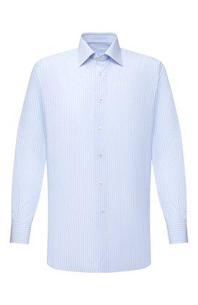 Мужская хлопковая сорочка BRIONI голубого цвета, арт. RCA20M/P008D | Фото 1