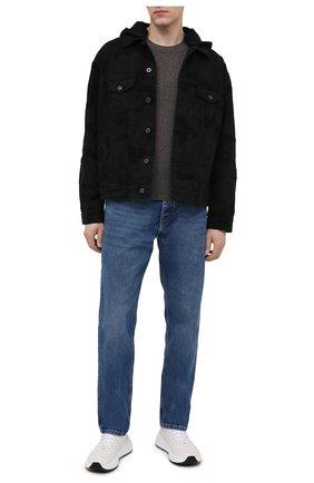 Мужская джинсовая куртка VALENTINO черного цвета, арт. VV3DC01U724   Фото 2