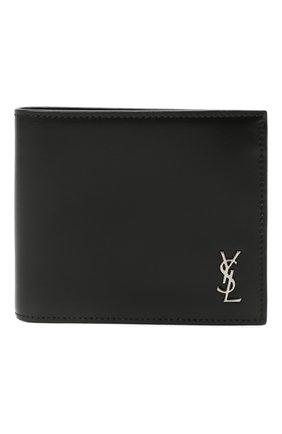 Мужской кожаное портмоне SAINT LAURENT черного цвета, арт. 607727/1JB0E | Фото 1