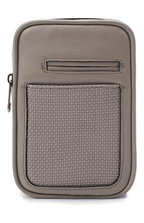 Мужской кожаный рюкзак pelletessuta ERMENEGILDO ZEGNA серого цвета, арт. C1609P-LHPTT | Фото 1