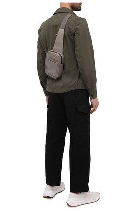 Мужской кожаный рюкзак pelletessuta ERMENEGILDO ZEGNA серого цвета, арт. C1609P-LHPTT | Фото 2