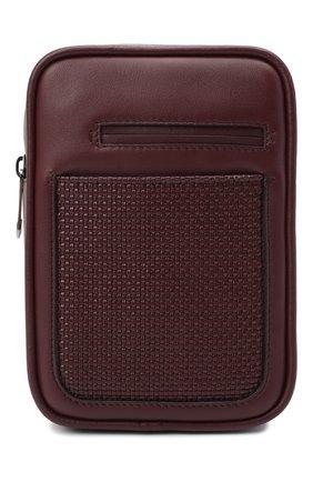 Мужской кожаный рюкзак pelletessuta ERMENEGILDO ZEGNA бордового цвета, арт. C1609P-LHPTT   Фото 1