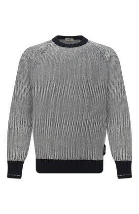 Мужской хлопковый свитер Z ZEGNA черно-белого цвета, арт. VWC70/ZZ410 | Фото 1