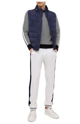 Мужской хлопковый свитер Z ZEGNA черно-белого цвета, арт. VWC70/ZZ410 | Фото 2