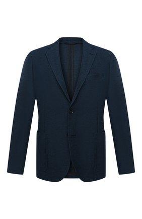 Мужской шерстяной пиджак ERMENEGILDO ZEGNA синего цвета, арт. UWC64/SDF | Фото 1