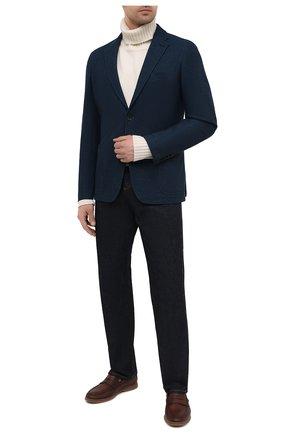Мужской шерстяной пиджак ERMENEGILDO ZEGNA синего цвета, арт. UWC64/SDF | Фото 2
