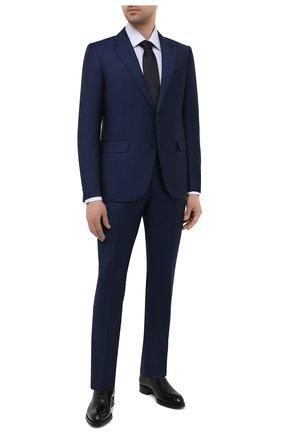 Мужской шерстяной костюм ERMENEGILDO ZEGNA темно-синего цвета, арт. 922578/221225 | Фото 1
