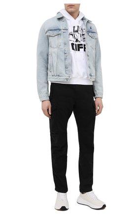 Мужская джинсовая куртка OFF-WHITE голубого цвета, арт. 0MYE054R21DEN002 | Фото 2